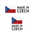 made in czech republic label tag template vector image vector image