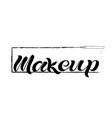 makeup black text vector image vector image