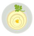 mayonnaise or sour cream sauce with parsley leaf vector image vector image