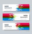 modern creative abstract design web banner vector image vector image