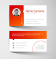 Modern white and red business card template vector image vector image