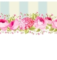 Ornate pink flower border with tile vector image vector image