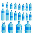 plastic bottle water set vector image