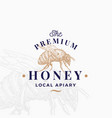 premium quality honey sign symbol or logo vector image vector image