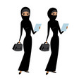 pretty young muslim business lady vector image vector image
