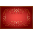 red and gold background with frame in center vector image vector image