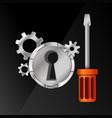 repair of locks vector image