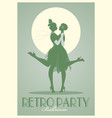 retro party poster silhouettes of flappers vector image vector image