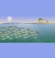sea landscape school vector image vector image
