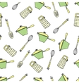 Seamless cute pattern with kitchen items vector image vector image