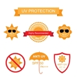 Set of UV Sun Protection and anti UV icons vector image