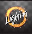 shining circle light effect design element vector image
