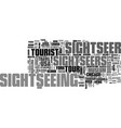 sightseer word cloud concept vector image vector image