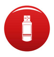 small flash drive icon red vector image vector image