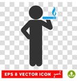 Smoking Child Eps Icon vector image vector image