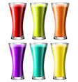 Smoothies in high glass vector image vector image