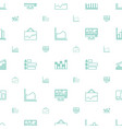 statistic icons pattern seamless white background vector image vector image