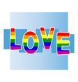 Stock background with gay pride vector image vector image
