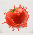 strawberry juice fresh fruit 3d icon converted vector image vector image