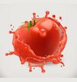 Strawberry juice fresh fruit 3d icon converted