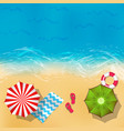 summer beach landscape with sand water vector image vector image