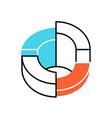 three-dimensional diagram color icon 3-space ring vector image vector image