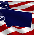 united states montana dark blue silhouette vector image vector image
