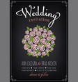 wedding invitation card bridal bouquet vector image vector image