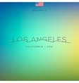 World Cities labels - Los Angeles vector image