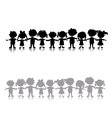Funny children sketch for your design vector image
