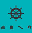 rudder icon flat vector image