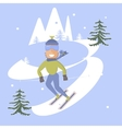 skier and snow vector image