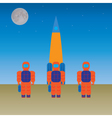 Astronauts and the rocket vector image