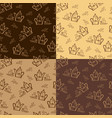 coffee pattern template vector image