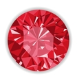 Ruby or Rodolite gemstone with shape vector image