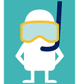Animated personality diver vector image vector image