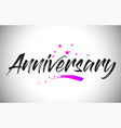 anniversary handwritten word font with vibrant