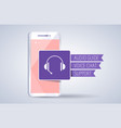 audio guide support voice chat on smartphon vector image