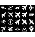 Aviation Icon Set vector image vector image