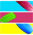 banner with bright paint brush strokes vector image