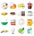 Breakfast Colorful Icons vector image vector image