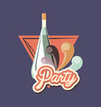 champagne bottle design vector image