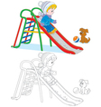 Child on a slide vector image vector image
