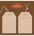 Christmas Tags or Labels- Scandinavian Style vector image vector image