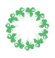 circle wreath of clover leaves vector image