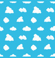 cloud sky seamless pattern cartoon blue air vector image