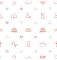 community icons pattern seamless white background vector image vector image