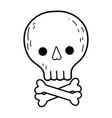 cute pirate skull icon vector image