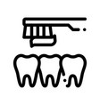 dentist teeth cleaning thin line sign icon vector image vector image