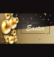 easter dark composition with a set of eggs of gold vector image vector image